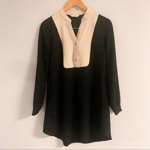 Grifflin Paris Black & Cream Mini Dress